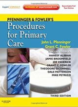 Pfenninger and Fowler's Procedures for Primary Care 3rd Edition 2011