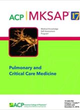 MKSAP (R) 17 Pulmonary and Critical Care Medicine 2018