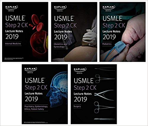 USMLE Step 2 CK Lecture Notes 2019: 5-book set (Kaplan Test Prep) 1st Edition 2019