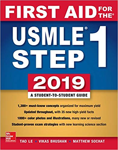 First Aid for the USMLE Step 1  29th  Edition 2019