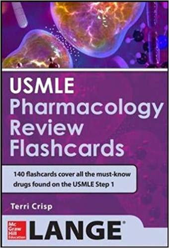 USMLE Pharmacology Review Flash Cards 1st Edition