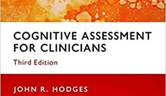 Cognitive Assessment for Clinicians 3rd Edition